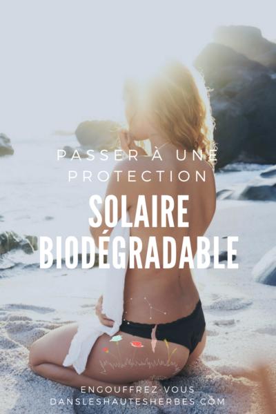 crème solaire biodégradable