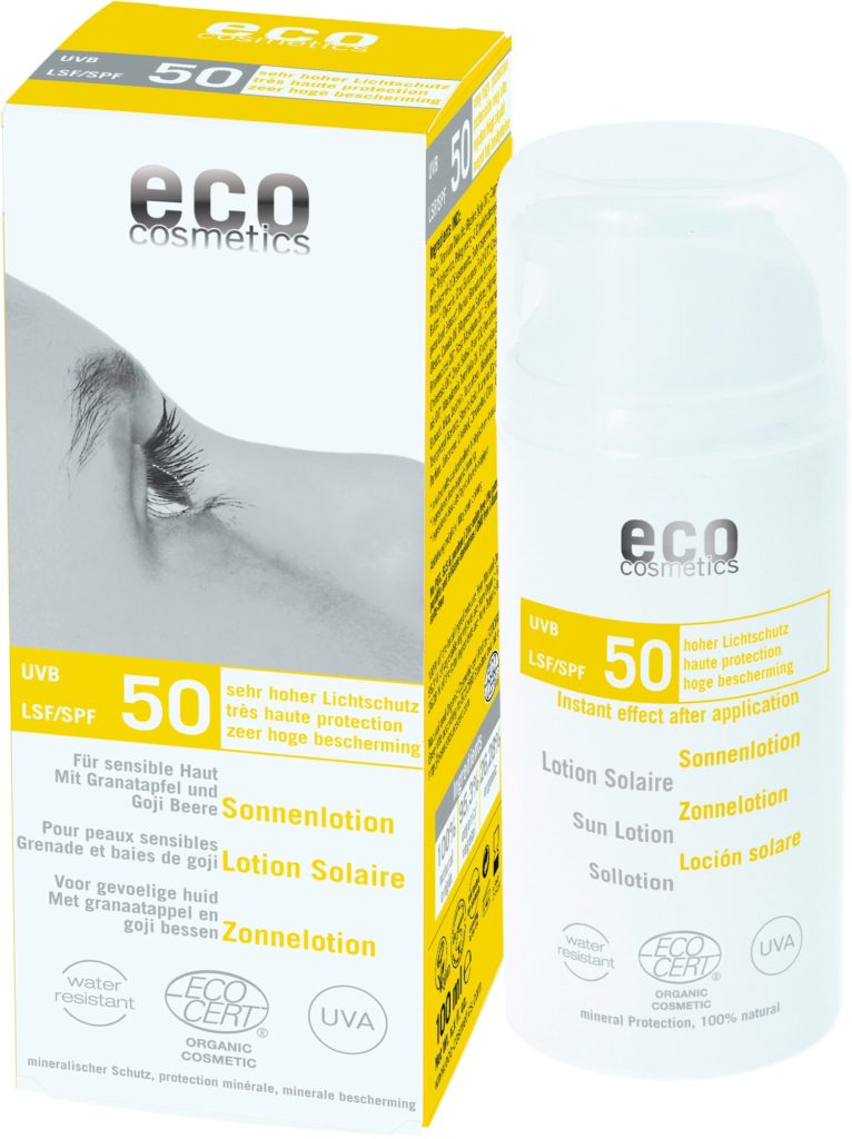 eco cosmetics crème solaire respectueuse de l'environment