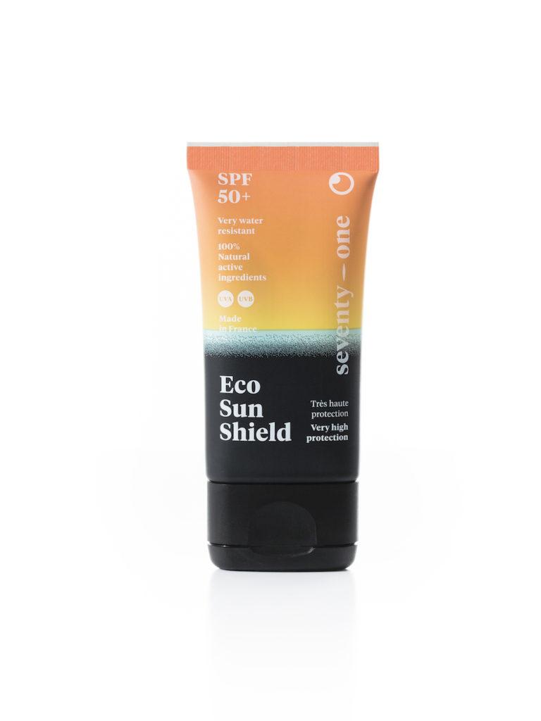 eco sun shield seventy one percent crème solaire