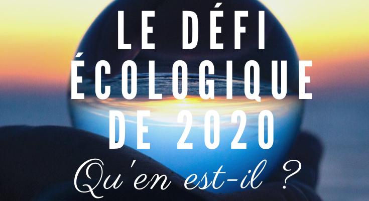 <h1>Tirage : Le défi écologique et environmental de cette année 2020. Qu'en sera-t-il ?</h1>